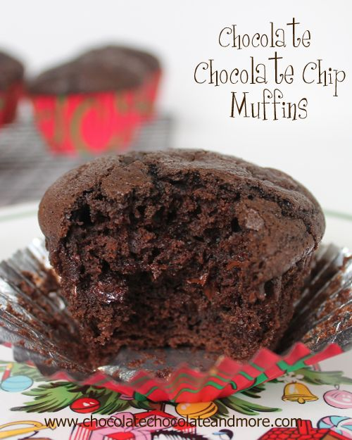 Ultimate Chocolate Chocolate Chip Muffins Recipe on Chocolate, Chocolate and More at http://chocolatechocolateandmore.com/2012/12/ultimate-chocolate-chocolate-chip-muffins/