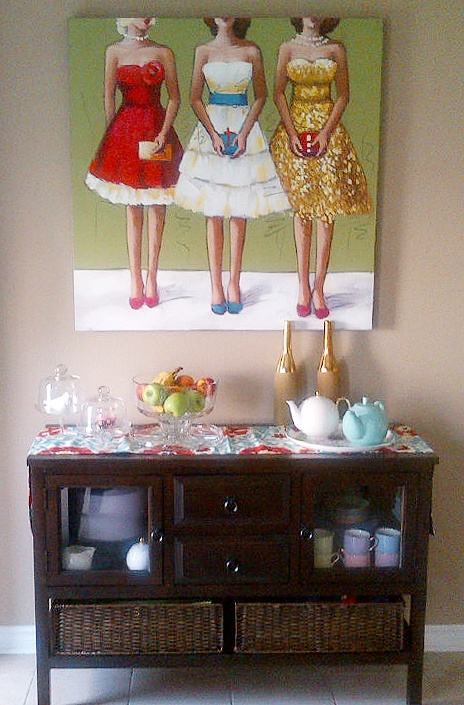 Carolyn T. has the Bridesmaids print in her informal dining room.