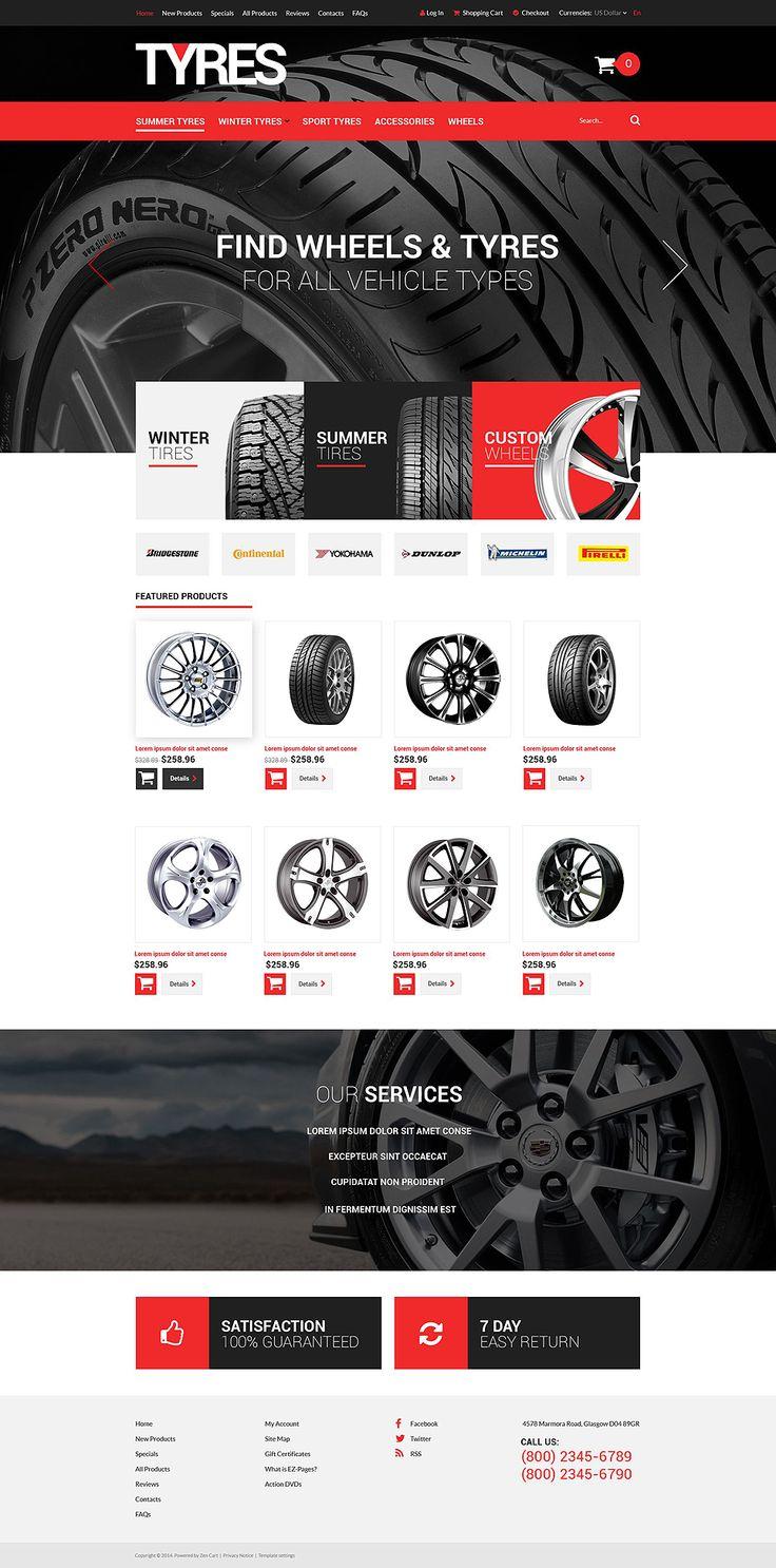 Online Tires Sales #ZenCart #Responsive Template #52080
