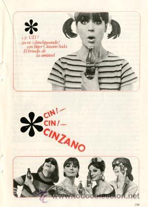 Página Publicidad Original *Bitter CINZANO Soda · Cin! Cin! CINZANO* -Vintage -  Año 1964
