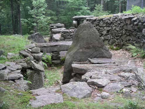 Mystery Hill, Salem New Hampshire. Thought to be over 4,000 years old and one of 350 megalithic sites in New England. Also called America's Stonehenge, it is an archaeological site consisting of a number of large rocks and stone structures scattered around roughly 30 acres.
