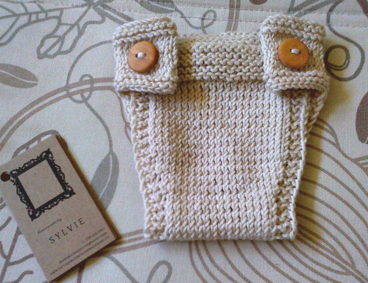 Wooden-Buttoned Diaper Cover