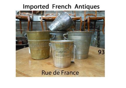 ANTIQUE / VINTAGE FRENCH MOET  CHAMPAGNE ART DECO WINE BUCKETS