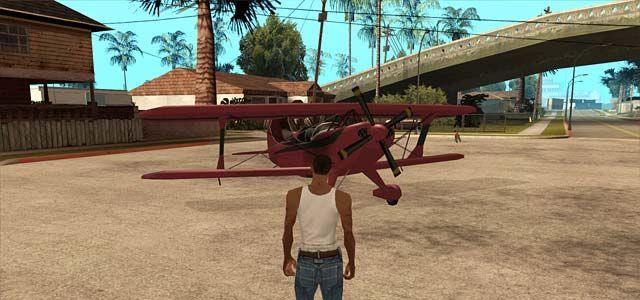 شفرة الطيران في جاتا سان اندرس وطائرات السفر الكبيرة Gta San Andreas