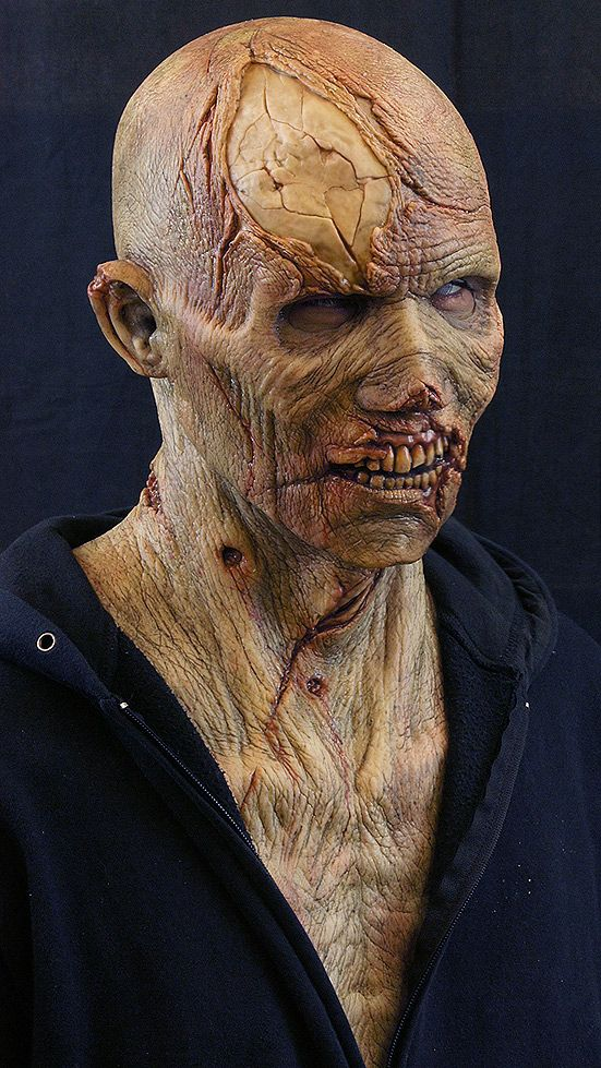 silicone zombie mask. Scary and creepy looking masks are great for a variety of things like movie props, dressing up for parties or just collecting. (nimbacreations, 2013.)