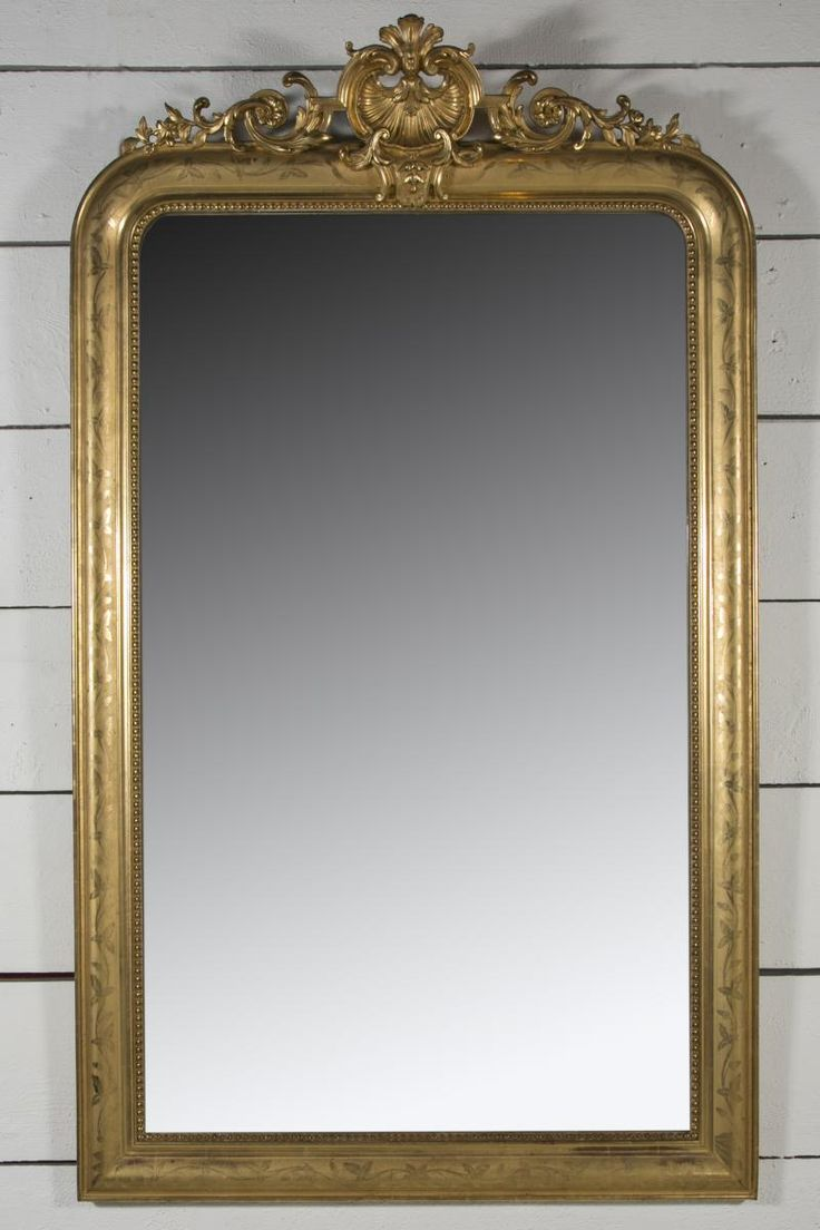 Grand Miroir Louis Philippe En Bois Doré H 186 L 110, Pascal Sarfati, Proantic