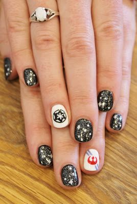 Star Wars Gel Manicure! Imperial and Rebellion nails. So cool!