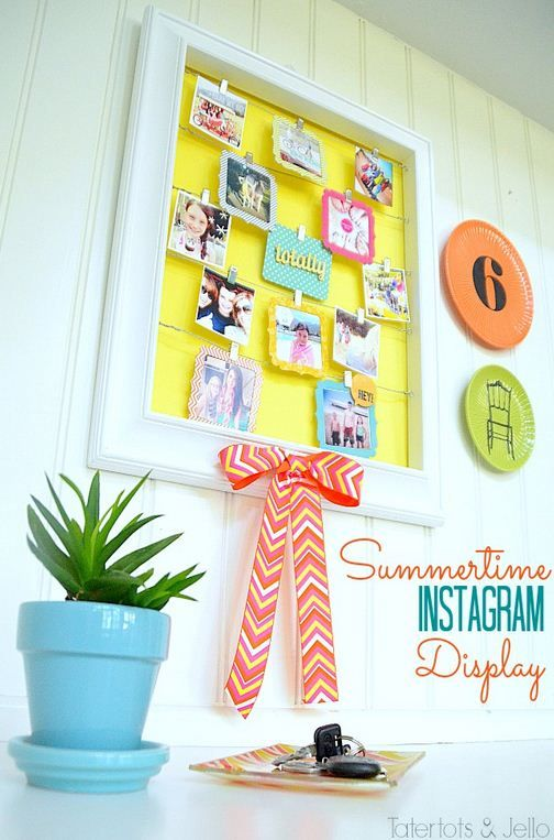 Summertime Instagram Display Wall by @Taylor Cox and Jello .com #MichaelsFabric