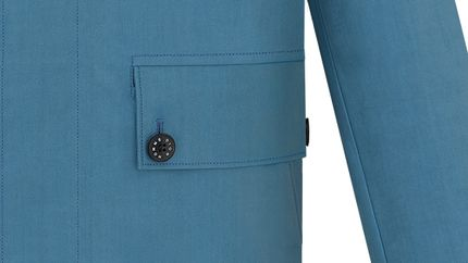 Bleu acier/グレー ダブルフェイスコットン - Dior