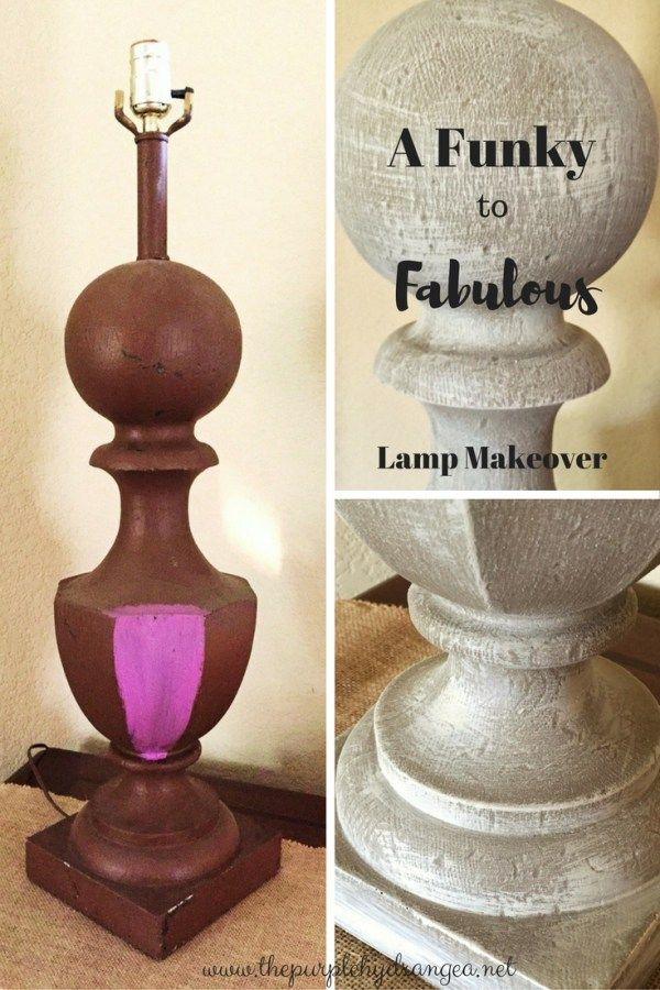 Lamp Makeover- From Funky to Fabulous - The Purple Hydrangea