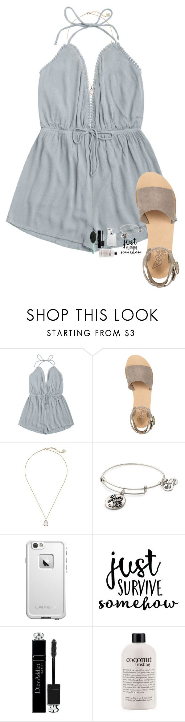 """""""Day in the d!"""" by kolbee24 ❤ liked on Polyvore featuring beauty, Ancient Greek Sandals, Kendra Scott, Alex and Ani, LifeProof, Christian Dior, philosophy and Topshop"""