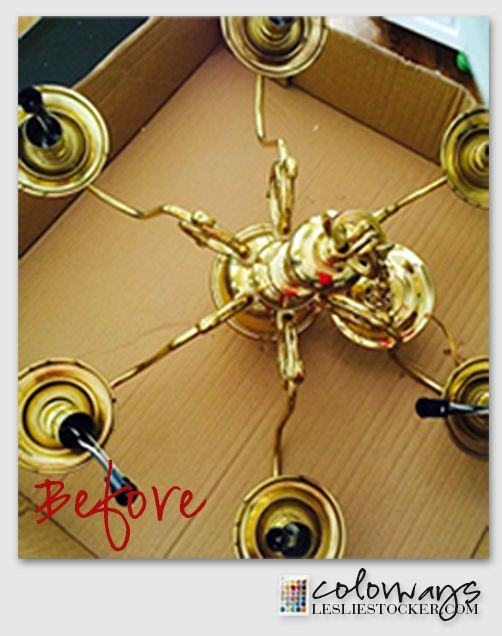 Brass Chandelier Makeover and a Surprise Delivery ...