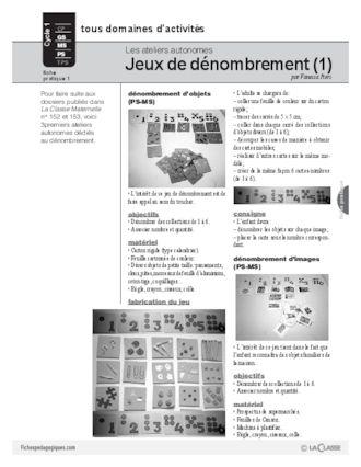 Ateliers autonomes (1) / Dénombrement