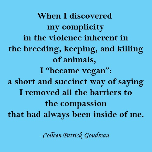 "A short definition of ""vegan"""
