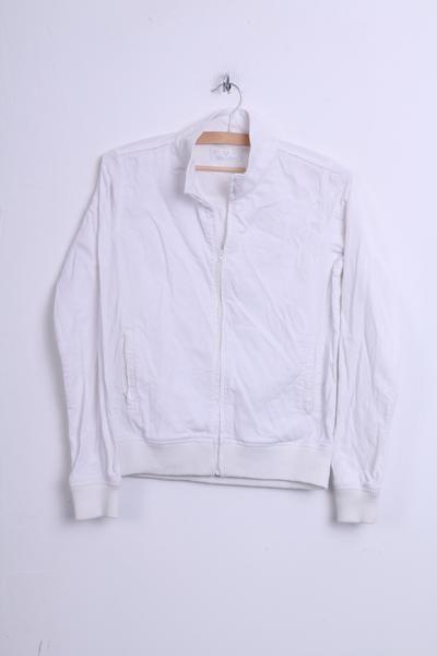 Fred Perry Womens 10 M Blazer Jacket Cotton White Corduroy - RetrospectClothes