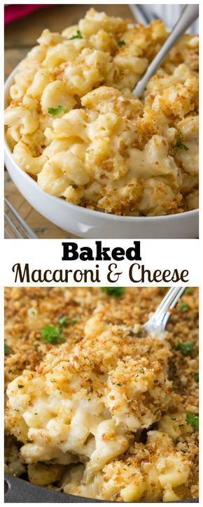 A classic and easy baked mac and cheese recipe! This recipe is dangerously easy to make and is topped off with a buttery, crisp, toasted panko topping! via @sugarspunrun