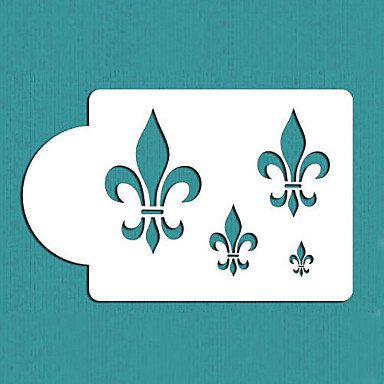 Fleur de Lis Cake Stencil,Fondant Mold Cake Decorating Tools,Cake Side Stencil,Plastic Art Stencils,ST-111  MSKU4416155 by RUSTIKOcakeDecoratio on Etsy