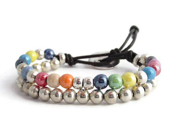 Boho women bracelet, Silver girlie bracelet, Silver bead chic bracelet, Strand bead bracelet, Stack balls bracelet, Teenage gift, Jewels – jewelry