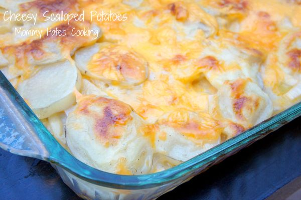 Delicious Cheesy Scalloped Potatoes - Perfect EASY Easter Side Dish (Gluten Free Optional TOO!)