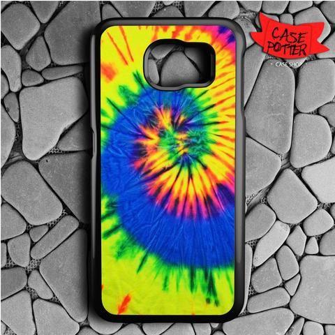 Tie Dye Color Samsung Galaxy S6 Black Case