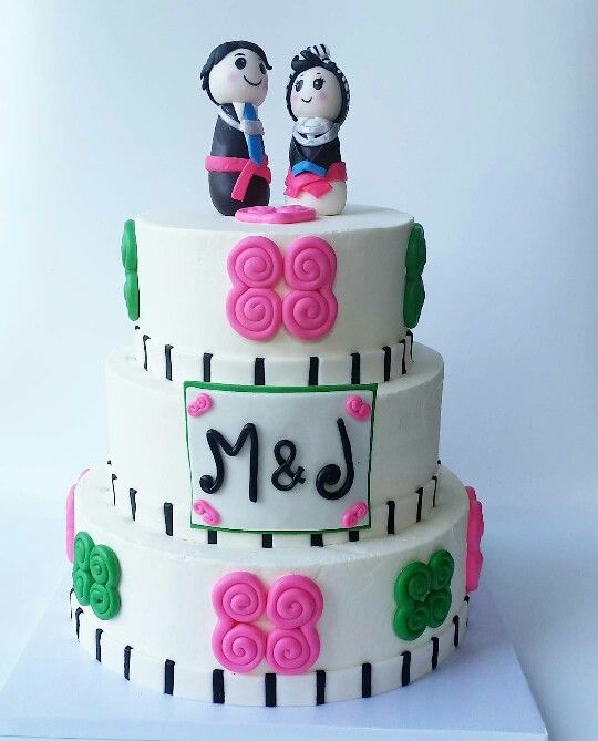 Hmong theme cake and topper