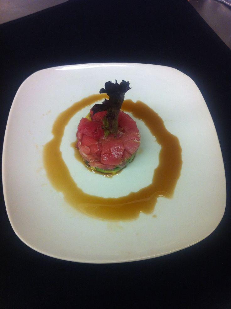 Vin Santo - Tartara di Tonno:  Sashimi grade ahi tuna capers red onion avocado