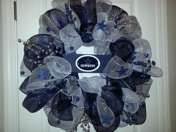 Dallas Cowboys mesh wreath