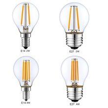 Затемнения E14 E27 G45 Ретро LED Накаливания Свет Лампы Глобус 1 Вт 2 Вт 4 Вт Эдисон Винтаж Ампулы Светодиодные Лампы 220 В 240 В внутреннего Освещения