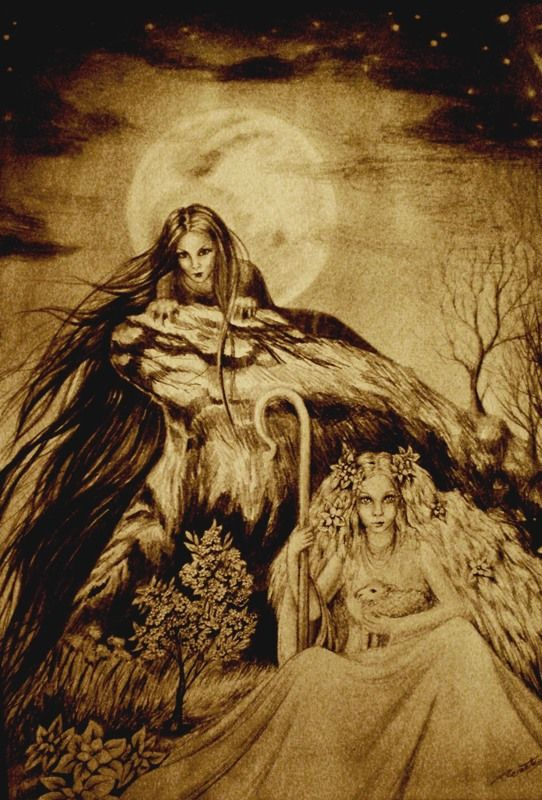 Morana (death) and Vesna (birth)  In slavic paganism Morana (Morava) is witch goddess