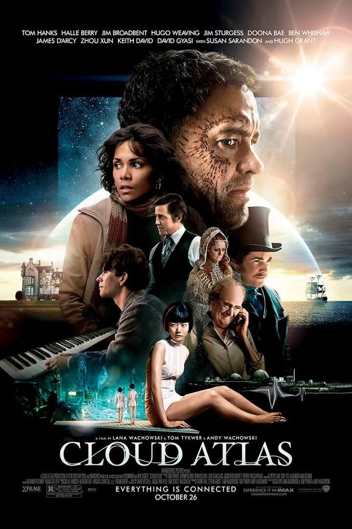 Cloud Atlas [2012] - A film covering six timelines and several genres Cloud Atlas has a cast to die for a beautiful score and excellent cinematography. It may be confusing on the first watch but it's the type of film you'll want to watch again. It's also available on Netflix!