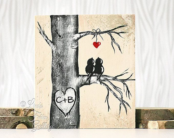 Mint and Coral Aspen Tree Painting Rustic Wood Signs Love Gift Wood Sign Art Love Bird Aquamarine 5th Anniversary Gift Custom Wedding Gift for Couple  Aspen / Birch Love Birds { Size }  11 7/8x 7 1/2 on MDF that has been painted with a distressed style. This is made and ready to add initials (if you would like) and ship. No waiting weeks for a personalized gift. The one in the first two photos is the one you will receive. The initials in the first photo were digitally added for an example…
