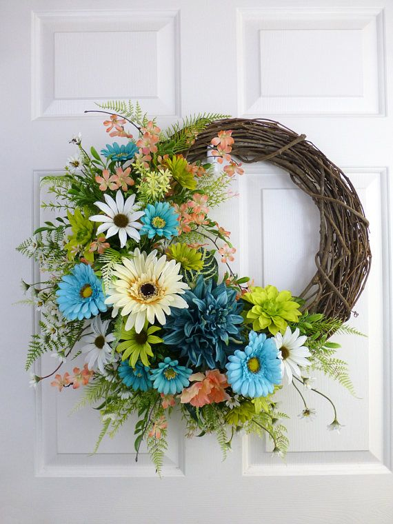 Daisies Wreaths Spring For Font Door Decorations Summer Front Year Round