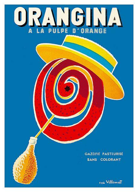 Vintage Italian Posters ~ #illustrator  #Italian #posters ~ Vintage Orangina poster.