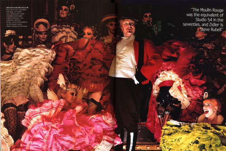 Vogue dec 2000 for Moulin rouge costume design by Catherine Martin and Angus Strathie.