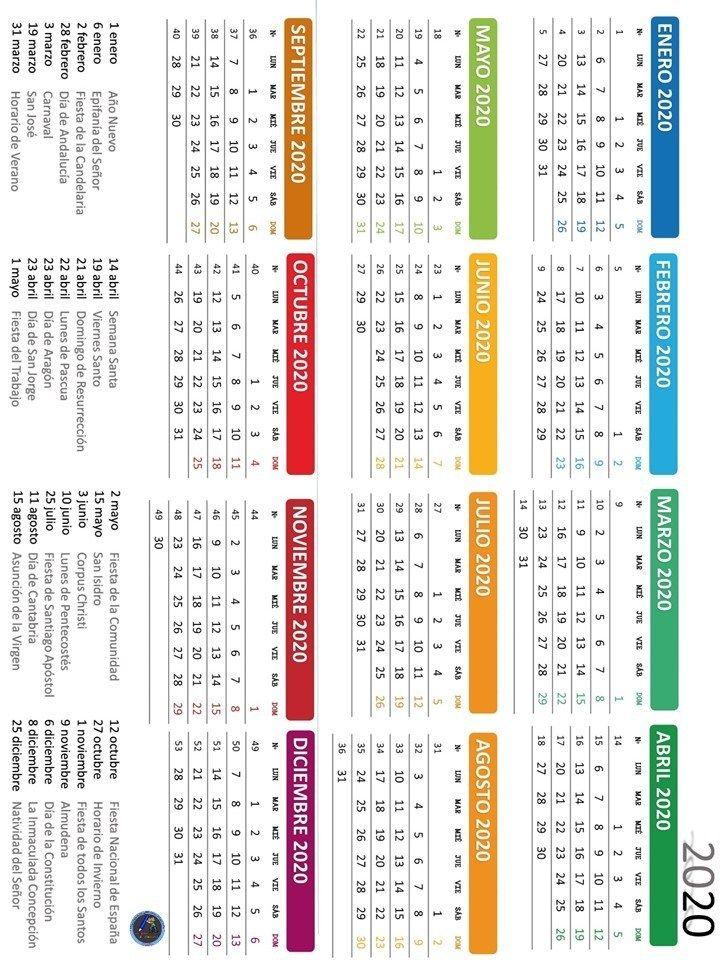 Calendario Escolar 2020 16 Cantabria.Agenda Escolar Imagenes Educativas 2019 2020 16 Agenda 2019