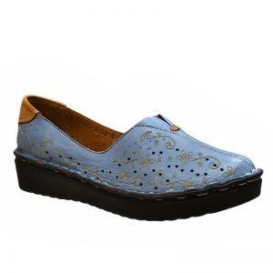 193-43 | Туфли | Страна производитель: Турция | Материал верха: Натуральная кожа | Материал подклада: Натуральная кожа | Высота каблука: 3 | Цвет: Голубой