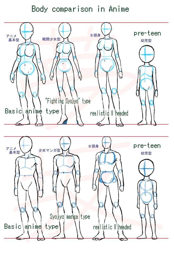 Anime Body Styleparison By ~yumezaka On Deviantart