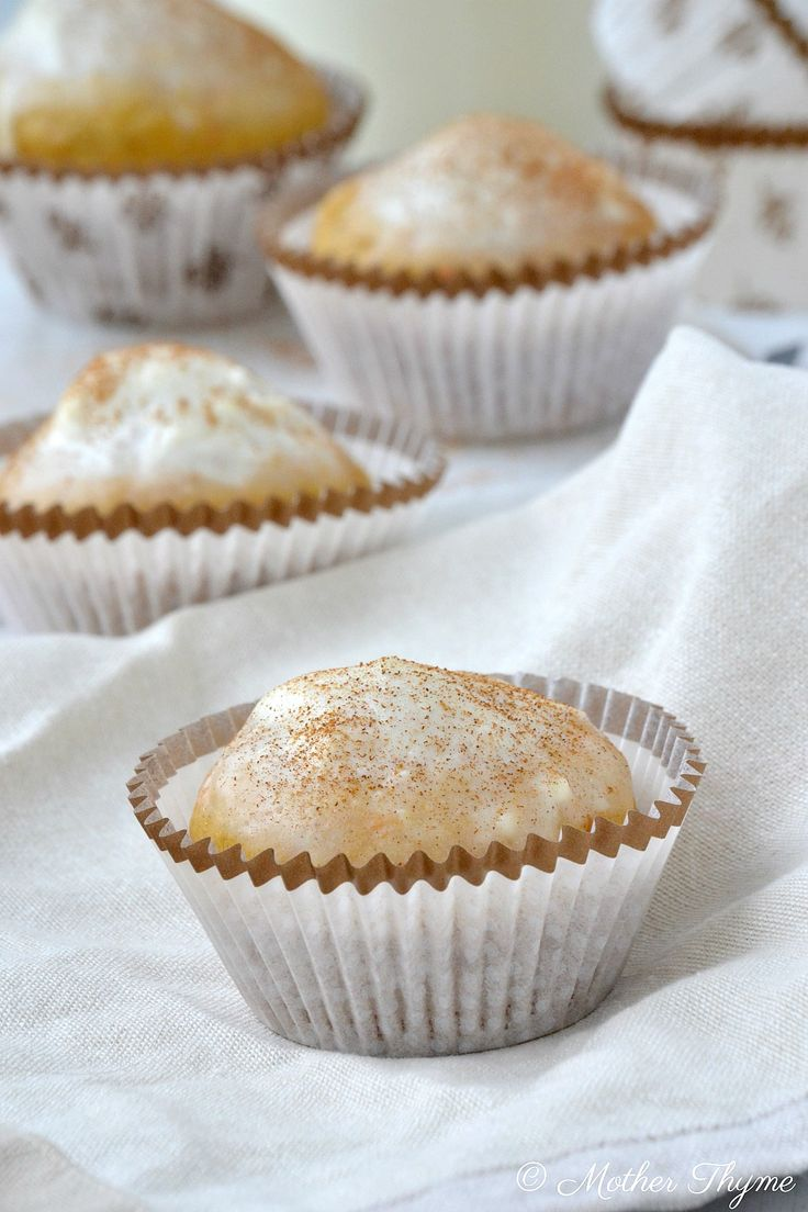 Healthy Carrot Cake Muffins | www.motherthyme.com