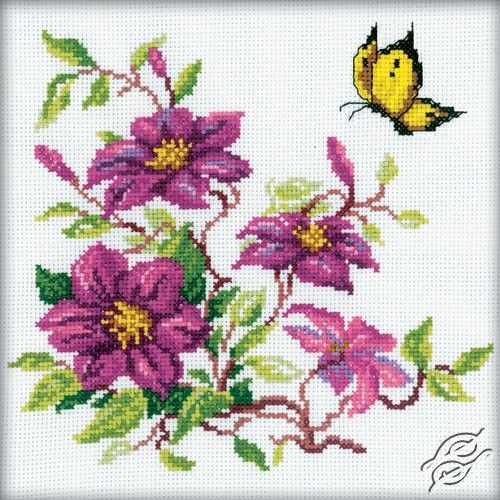 Clematis - Cross Stitch Kits by RTO - M145