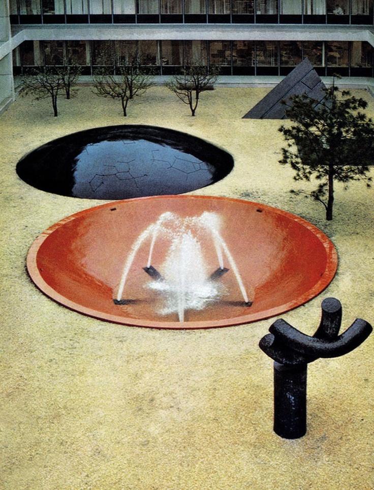 Isamu Noguchi's Gardens for IBM Headquarters in Armonk, New York