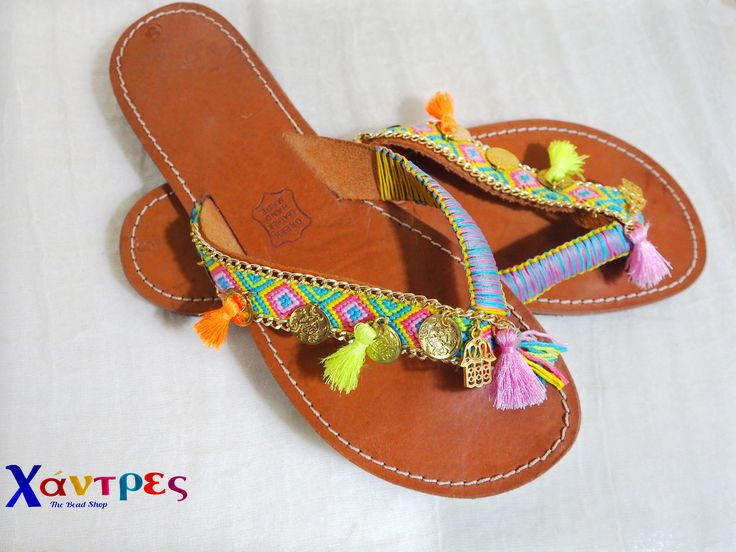 Boho look for those leather flip flops.