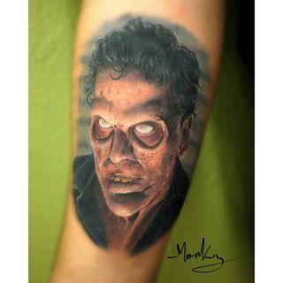 Evil Dead Tatuaje realizado en el Seminario de Realismo a Color que impartí en Alkimia Sevilla