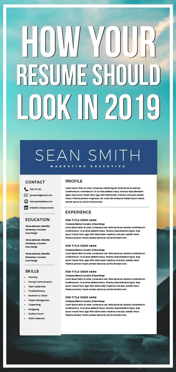 Modern Resume Template - Professional CV Template + Cover Letter