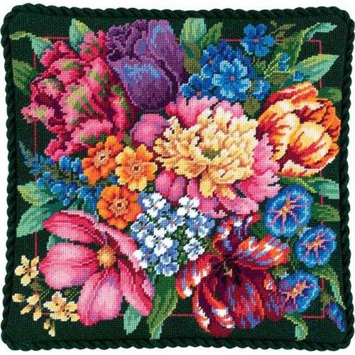 Dimensions #Needlepoint #FLORAL SPLENDOR ♥ #ebay #sale #flowers #gift #home #interior #decoration #display #create #DIY #project #handcraft #handmade #needlework #stitching #craft