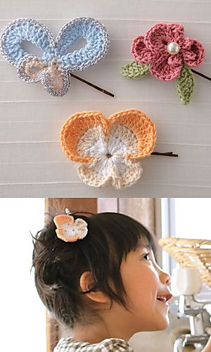 detachable hairpins for that headband at ravelry...like the haircutCrochet Pattern For Headbands, Crochet Ideas, Crochet Pattern Free Headbands, Detached Hairpin, Crochet Flower, Crochet Headbands With Flower, Crochet Hairpin, Crochet Pattern For Flower, Wall Hook