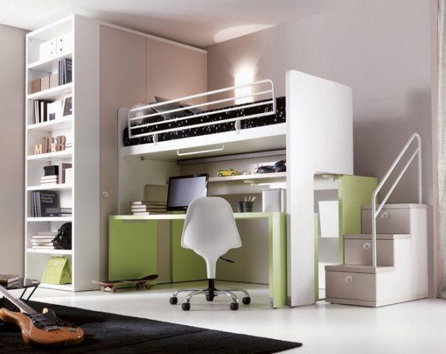 hochbett kinderzimmer unisex design schreibtisch flexibel doimocityline kids pinterest. Black Bedroom Furniture Sets. Home Design Ideas