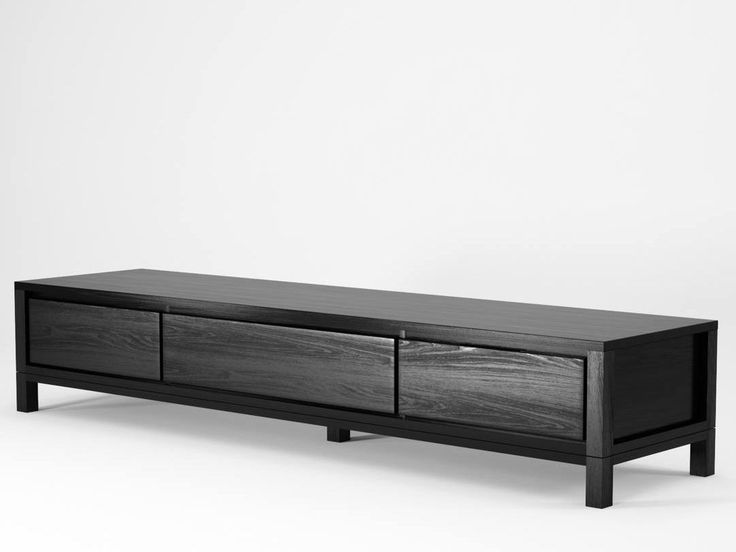 Download the catalogue and request prices of Solid | wooden tv cabinet By karpenter, low wooden tv cabinet design Hugues Revuelta, solid Collection