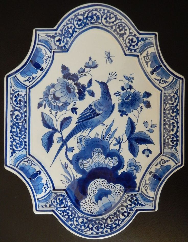 Great Porceleyne Fles Delft mural wall plaque