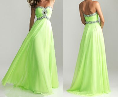 fashion lime green prom dress, lime green dress, long green prom dress, long…