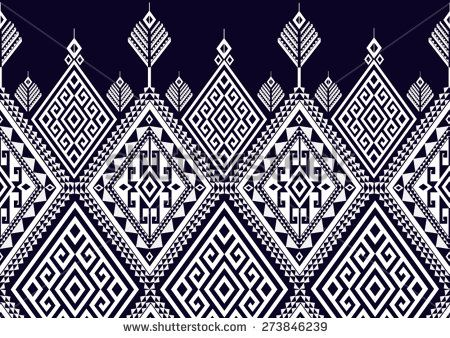 Abstract ethnic geometric pattern design for background or wallpaper.  - stock vector
